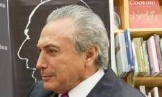 Michel Temer, em Brasília, no lançamento de livro sobre Ulysses, de Jorge Bastos Moreno Foto: Reprodução