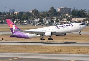 Avião da Hawaiian Airlines Foto: Dylan Ashe / Wikipedia/Creative Commons