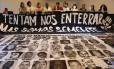 Mães vítimas de violência policial se reúnem na Casa do Povo, no Bom Retiro, em São Paulo