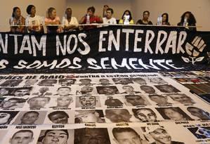 Mães vítimas de violência policial se reúnem na Casa do Povo, no Bom Retiro, em São Paulo Foto: Edilson Dantas / Agência O Globo