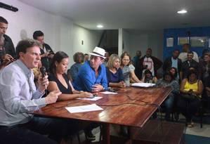 Marcelo Crivella na agenda do Sindsprev. Inni Vargas Foto: Divulgação