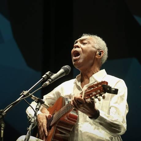 Gilberto Gil durante show em Brasília Foto: André Coelho / O Globo