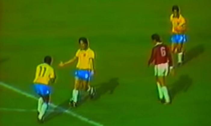 Careca fez quatro dos seis gols do Brasil na goleada sobre a Venezuela Foto: Reprodução / Youtube