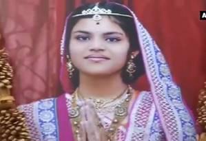 Aradhana Samdhariya, de 13 anos, morreu após jejuar por 68 dias Foto: REPRODUÇÃO/THE INDIAN EXPRESS