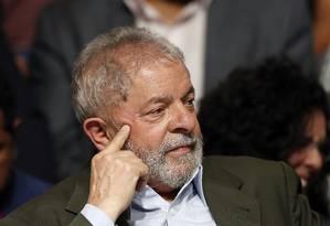 O ex-presidente Lula participa de ato de campanha do prefeito de São Paulo, Fernando Haddad Foto: Edilson Dantas / Agencia O Globo