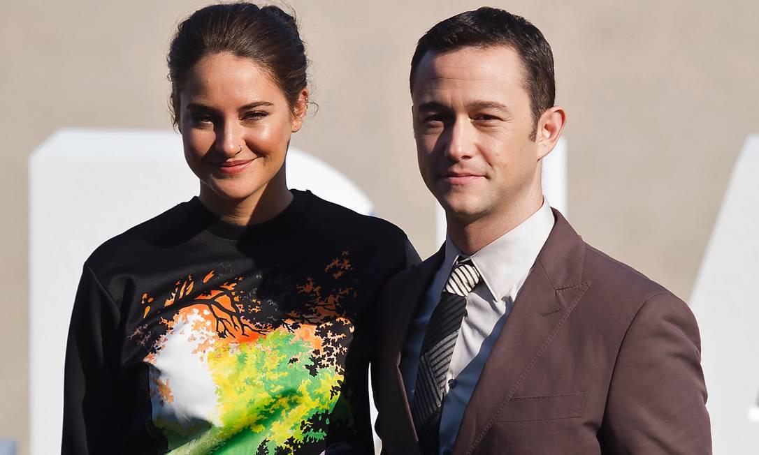 Shailene Woodley e Joseph Gordon-Levitt, companheiros de cena em 'Snowden' Foto: ANDER GILLENEA / AFP