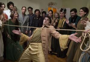 """Caio Blat (centro) e elenco de """"BR 716"""", que ganhou em setembro quatro prêmios no Festival de Gramado Foto: Divulgação"""