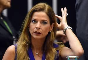 A jornalista Cláudia Cruz, esposa de Eduardo Cunha Foto: EVARISTO SA / 9-9-2016 / AFP