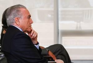 O presidente Michel Temer Foto: Beto Barata/PR/Agência O Globo