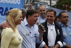 Prefeito eleito de São Paulo, João Doria participa de campanha do candidato do PSDB à Prefeitura de São Bernardo, Orlando Morando, que disputa o segundo turno na cidade Foto: Edilson Dantas / Agência O Globo