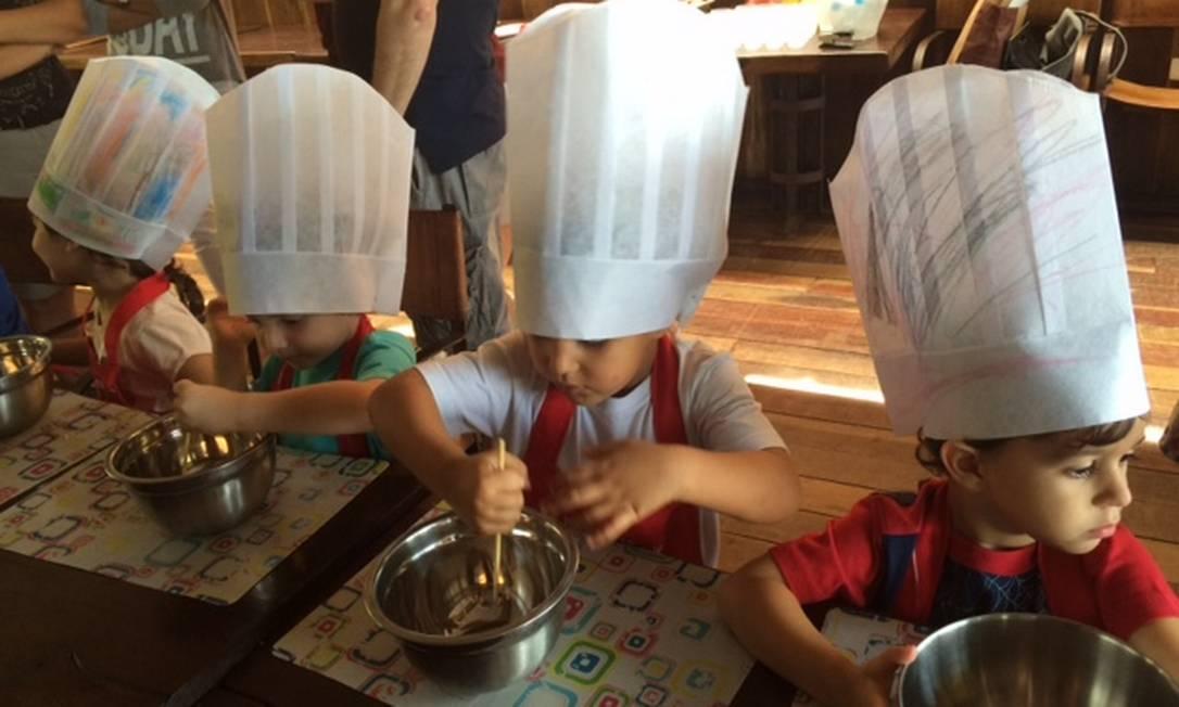Na oficina Pequeno Chef, do Rubaiyat, as crianças brincam de chefs de cozinha fazendo três receitas. A edição do Dia das Crianças começa às 10h30m Divulgação