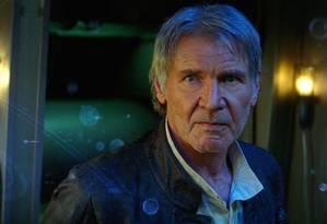 Harrison Ford como Han Solo em cena de 'Star Wars: O despertar da Força' Foto: Divulgação