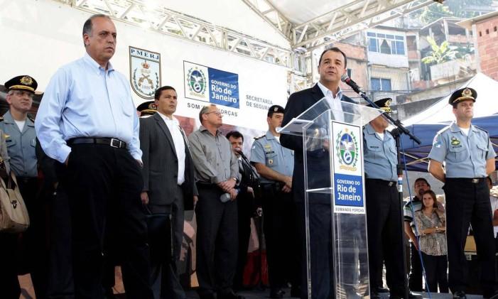 Cerimônia de inauguração da UPP Alemão Foto: Marino Azevedo - 30/05/2012 / Agência O Globo