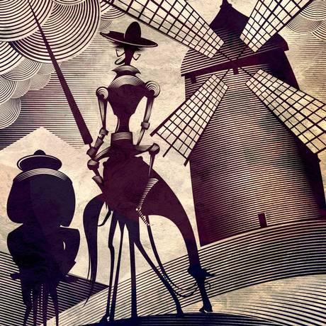 Ilustrações de Samuel Casal para 'Dom Quixote' Foto: Divulgação