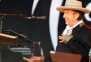 Bob dylan em show de 2012 Foto: FRED TANNEAU / AFP