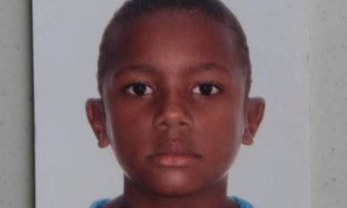O menino Juan Moraes Neves, de 11 anos Foto: Reprodução