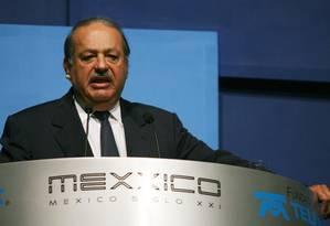 O bilionário Carlos Slim, acionista do New York Times, está na mira de Trump Foto: Susana Gonzalez