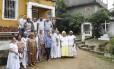 União. Umbandistas se reúnem no Centro Espírita Pai Joaquim D'Angola, do babalorixá Cristiano Pereira D'Oxóssi, que funciona no bairro do Fonseca