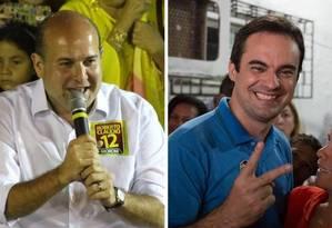 Roberto Cláudio (PDT) e Capitão Wagner (PR) disputam o segundo turno em Fortaleza Foto: Divulgação