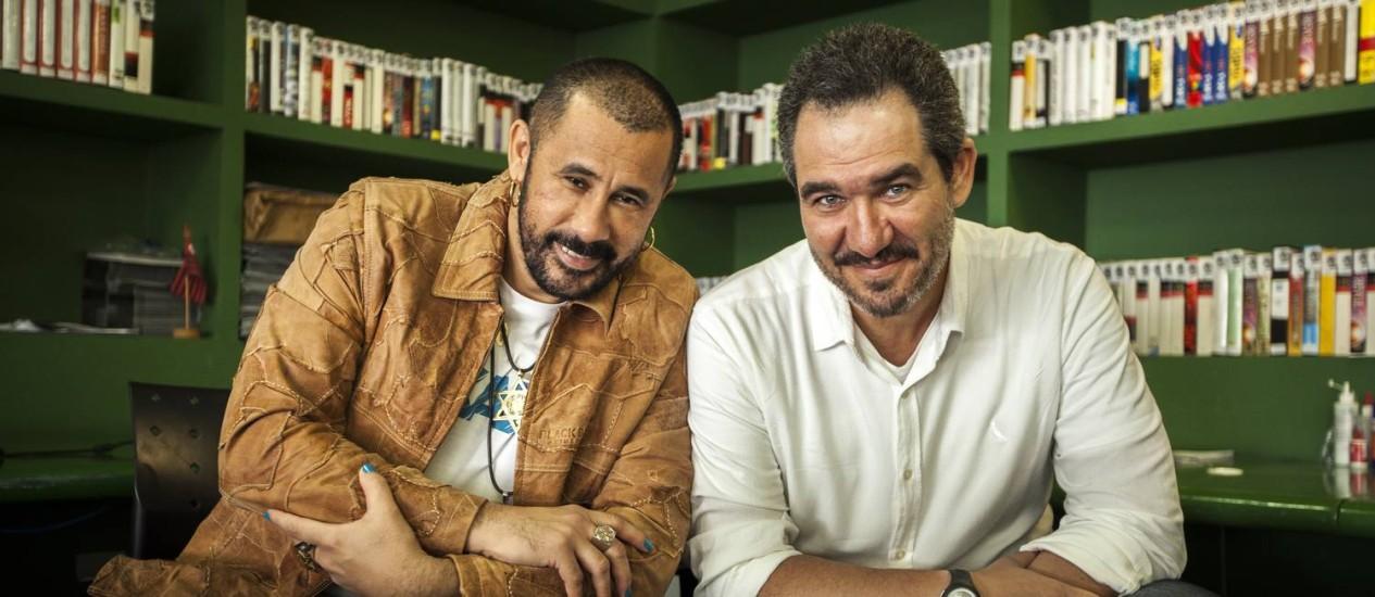 José Júnior é o diretor de criação e comercial da AfroReggae Audiovisual, enquanto Christian de Castro é o CEO da empresa Foto: Hermes de Paula / Hermes de Paula