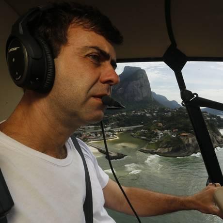 O candidato do PSOL à prefeitura do Rio Marcelo Freixo Foto: Gabriel de Paiva/ Agência O Globo