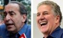 Kalil e Leite: ex-presidente e ex-goleiro do Atlético