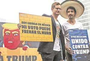 Donald Trump é alvo de protestos na Cidade do México Foto: Cristopher Rogel Blanquet/El Universal/GDA/25-9-2016