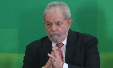 O ex presidente Lula Foto: André Coelho/ Agência O Globo