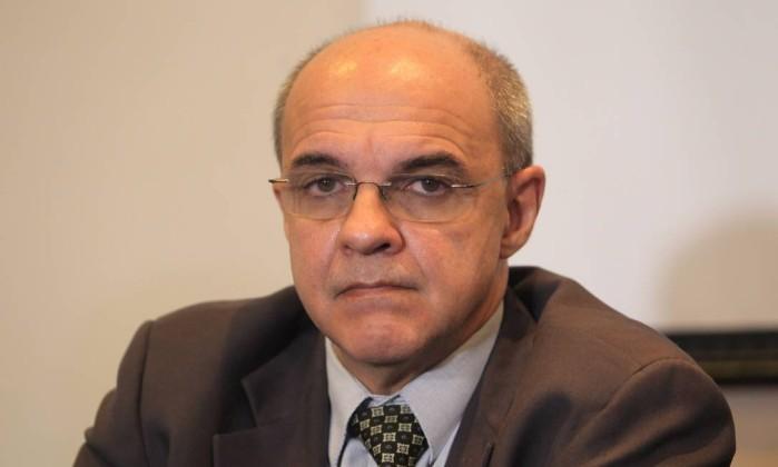 O presidente do Flamengo, Eduardo Bandeira de Mello, reclamou da arbitragem no jogo do Palmeiras - Marcos Alves / Agencia O Globo