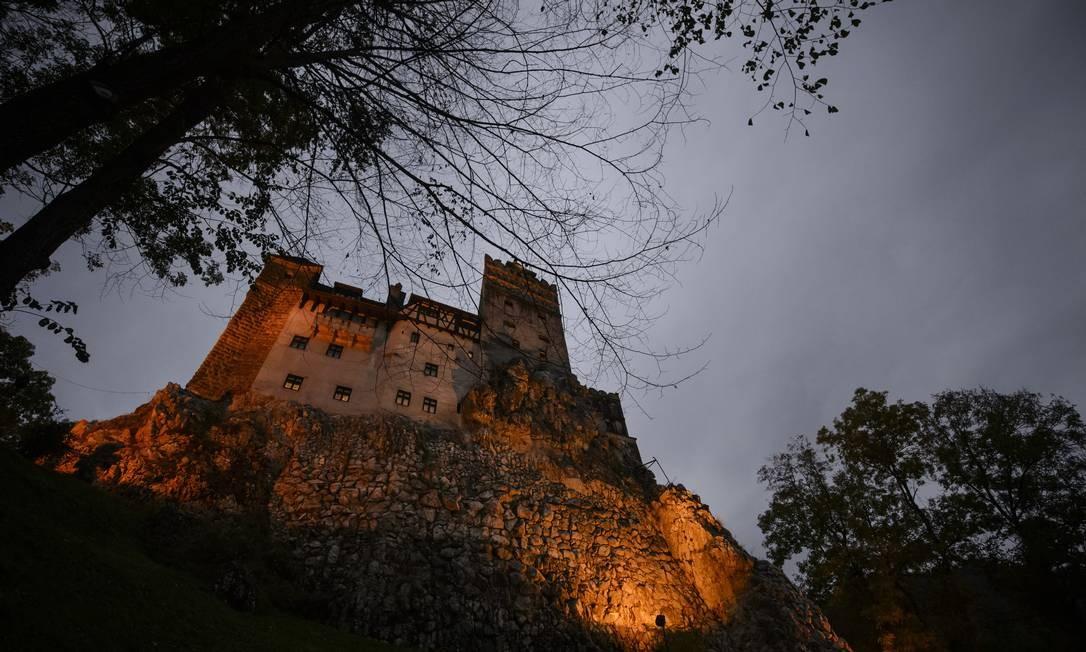O Castelo de Drácula visto de fora Foto: Andreea Alexandru/AP