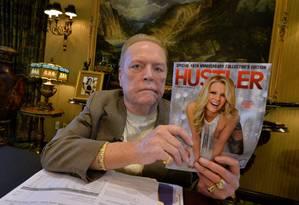 O empresário Larry Flynt em foto de 2014, quando comemorou os 40 anos da revista 'Hustler' Foto: MARK RALSTON / AFP