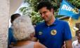 O prefeito de Maceió, Rui Palmeira, durante atividade de sua campanha à releição