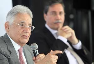 "Ex-presidente Fernando Henrique Cardoso durante o encontro ""E agora, Brasil?"" Foto: Paulo Nicolella / Agência O Globo"