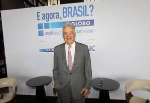"""Ex-presidente Fernando Henrique falou sobre seus """"Diários da Presidência"""" durante seminário realizado pelo GLOBO Foto: Paulo Nicolella / Agência O Globo"""