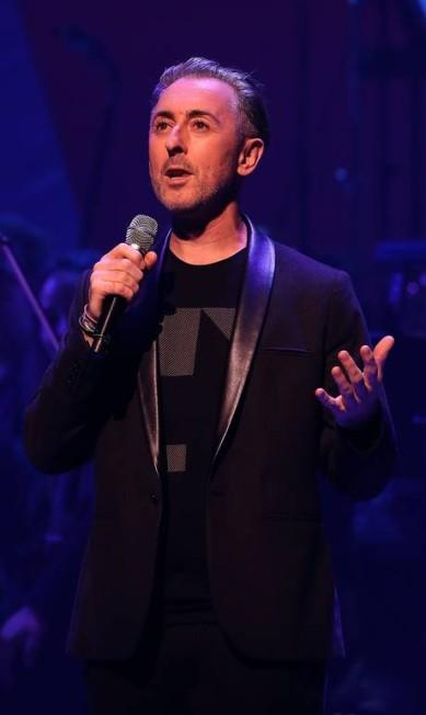 Alan Cumming, o Eli Gold da série 'The good wife', também fez seu discurso no evento JUSTIN SULLIVAN / AFP