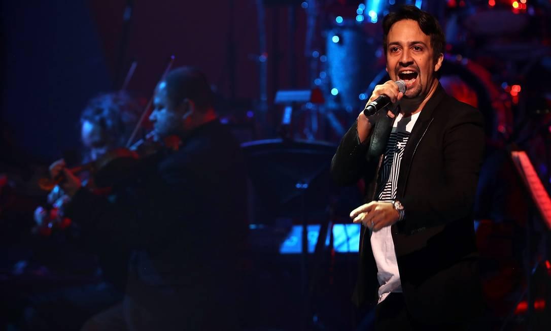 Lin Manuel Miranda, estrela por trás do fenômeno 'Hamilton', deu sua palinha JUSTIN SULLIVAN / AFP