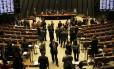 Plenário da Câmara dos Deputados, durante sessão do Congresso Nacional, que analisou três vetos presidenciais