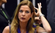 Claudia Cruz, mulher do deputado cassado Eduardo Cunha, durante cerimônia na Câmara, em novembro Foto: EVARISTO SÁ / AFP