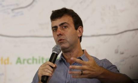 O candidato Marcelo Freixono IAB Foto: Pablo Jacob / Agência O Globo 17/10/2016