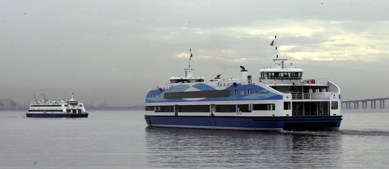 Barcas terão viagens reduzidas e horários de embarque estendidos Foto: Thiago Freitas / Agência O Globo