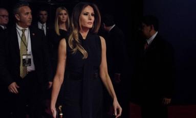 Melania Trump em debate Foto: BRENDAN SMIALOWSKI / AFP
