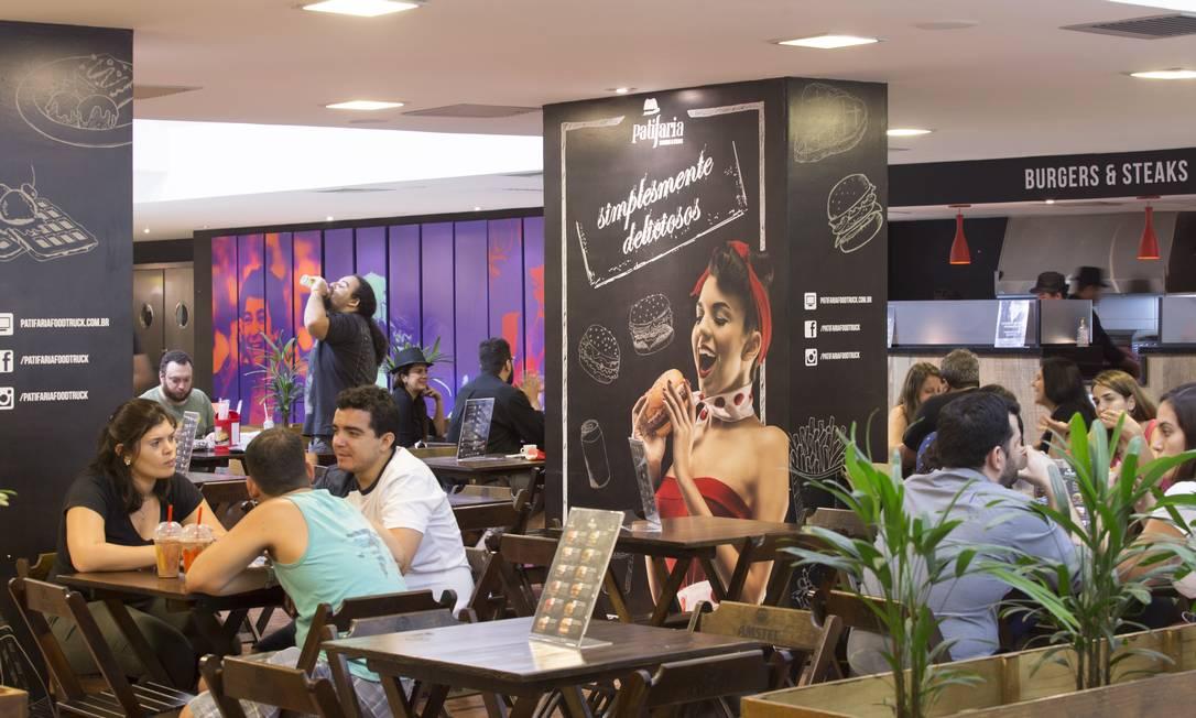E é dentro de uma galeria, dentro do Imperator, que fica a Patifaria. Evolução do food-truck de sucesso na Tijuca Leo Martins / Agência O Globo