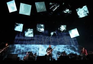 Show do Radiohead no festival de Coachella, em abril de 2012 Foto: DAVID MCNEW / REUTERS