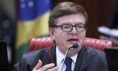 O ministro Herman Benjamin durante sessão plenária do TSE Foto: Divulgação / Roberto Jayme / TSE