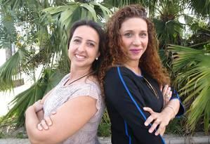Denise Sganzerla, às esquerda, e Abbadhia Vieira Foto: Thalita Pessoa