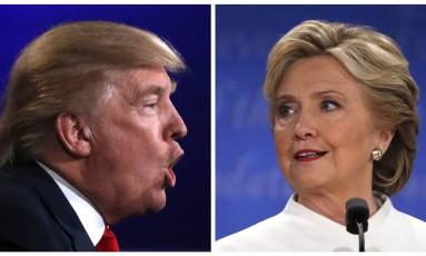 Donald Trump e Hillary Clinton no debate presidencial Foto: CARLOS BARRIA / REUTERS