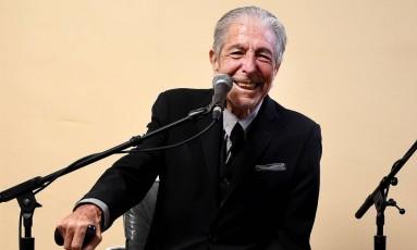 """Leonard Cohen, em Los Angeles, na semana passada, em coletiva de imprensa para lançar """"You Want It Darker"""" Foto: Frank Micelotta / Divulgação/Frank Micelotta"""