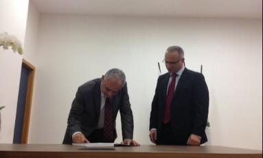 Delegado Carlos Augusto Neto Leba tomou posse em cerimônia marcada pela emoção Foto: Divulgação