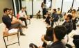 Freixo em reunião com empreendedores na Glória, na Zona Sul do Rio de Janeiro