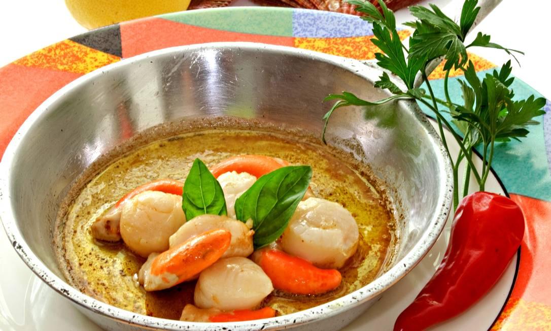 Margutta. Panelinha de vieiras grelhadas na manteiga ao limão siciliano (R$57,50). Simples e perfeito  / Divulgação